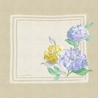 Hydrangea Linen Scarf Print