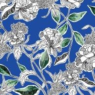 Blue Chrysanthemum Print