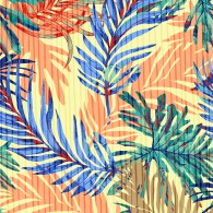 Tropical Leaf with Stripe Mix