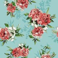 Vintage Mint Floral