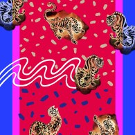 Haechi Korean Tiger Scarf_Pink