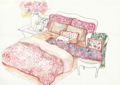 Watercolor Bedding Set1